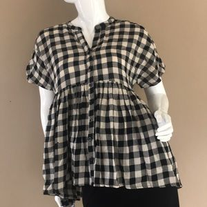 Anthropology gingham top